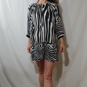 Vero Moda zebra print tunic oversized mini dress